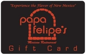 Papa Felipe's Gift Card , Albuquerque restaurant gift card