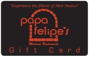 Papa Felipe's Gift Card